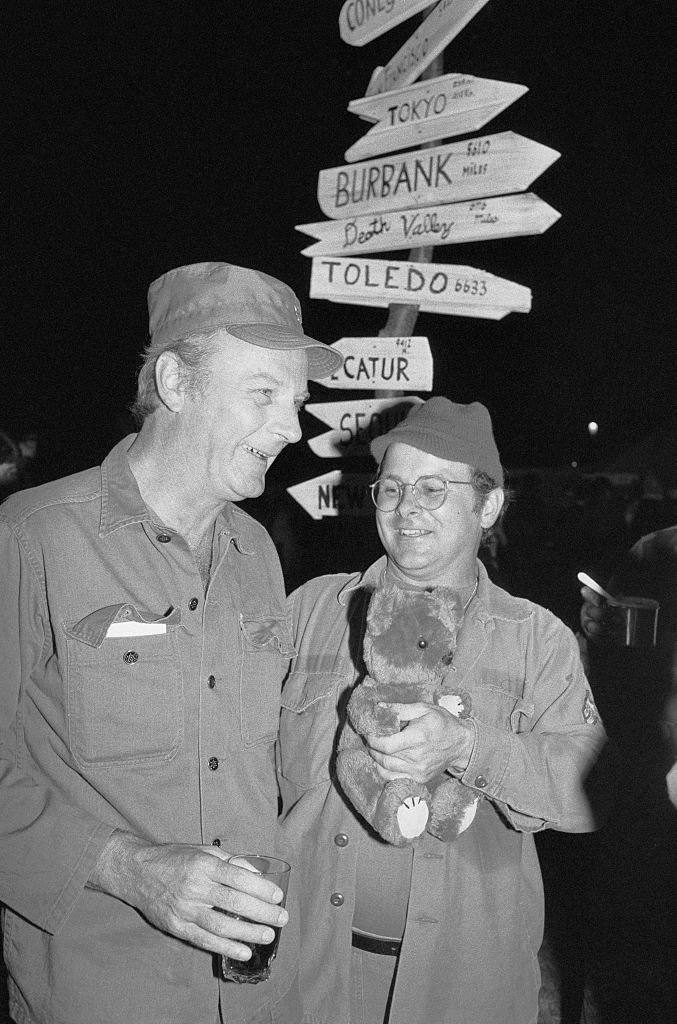 Image Credits: Getty Images / Bettmann  | Larry Linville (Frank Burns of M*A*S*H) with Gary Burghoff, who played Radar O'Reilly