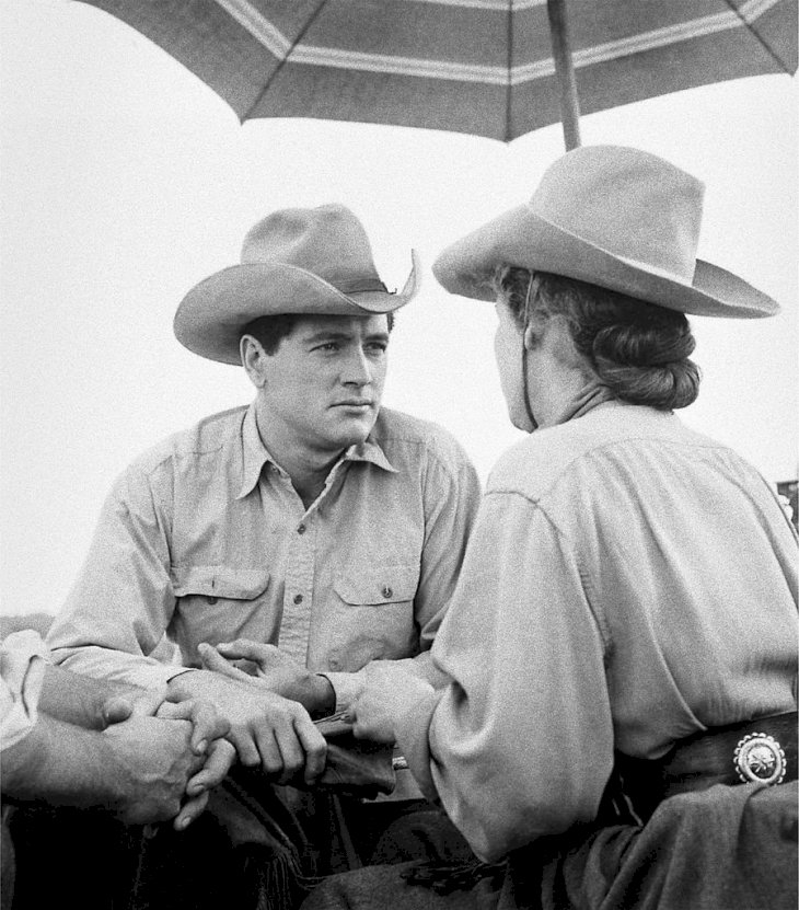 Image Credit: Getty Images/Frank Worth, Courtesy of Capital Art | Hudson on the set of Giant