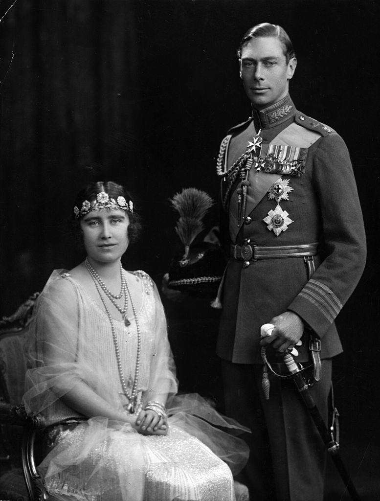 Image Source: Getty Images/Hulton Archive/The Duke and Duchess of York on their marriage day, later becoming King George VI (1895 - 1952) and Queen Elizabeth (1900 - 2002)