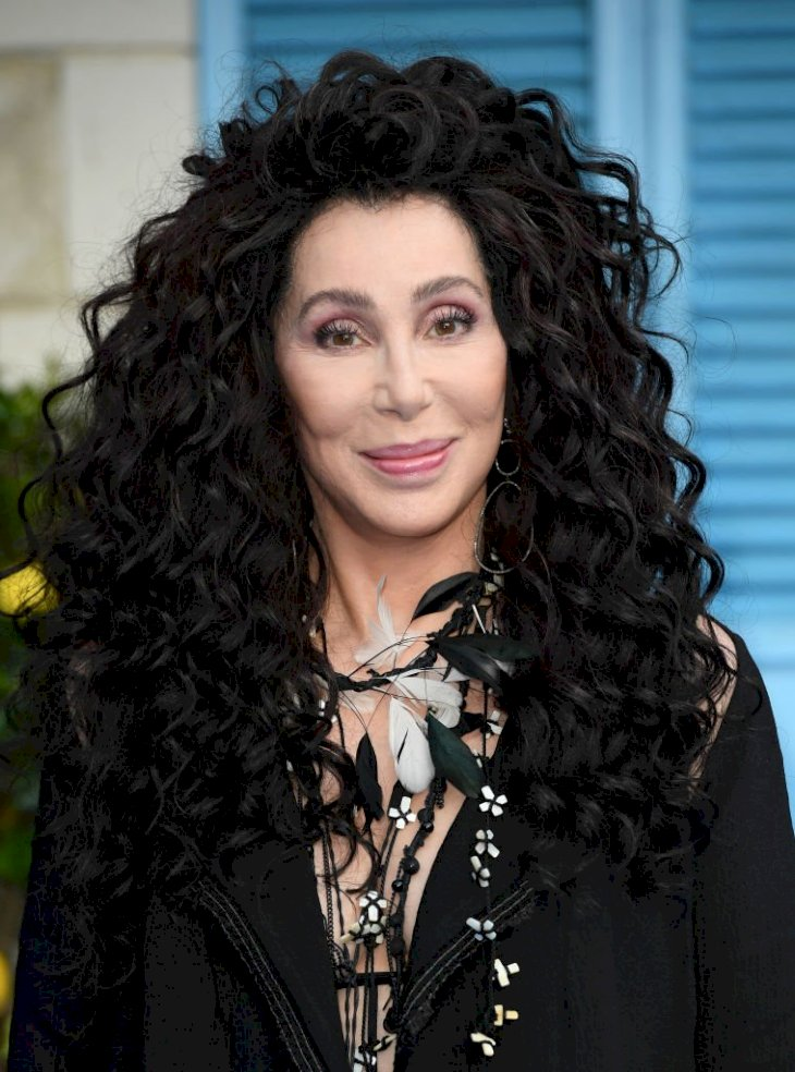 """Image Credit: Getty Images / Cher attends the World Premiere of """"Mamma Mia! Here We Go Again"""" at Eventim Apollo on July 16, 2018 in London."""
