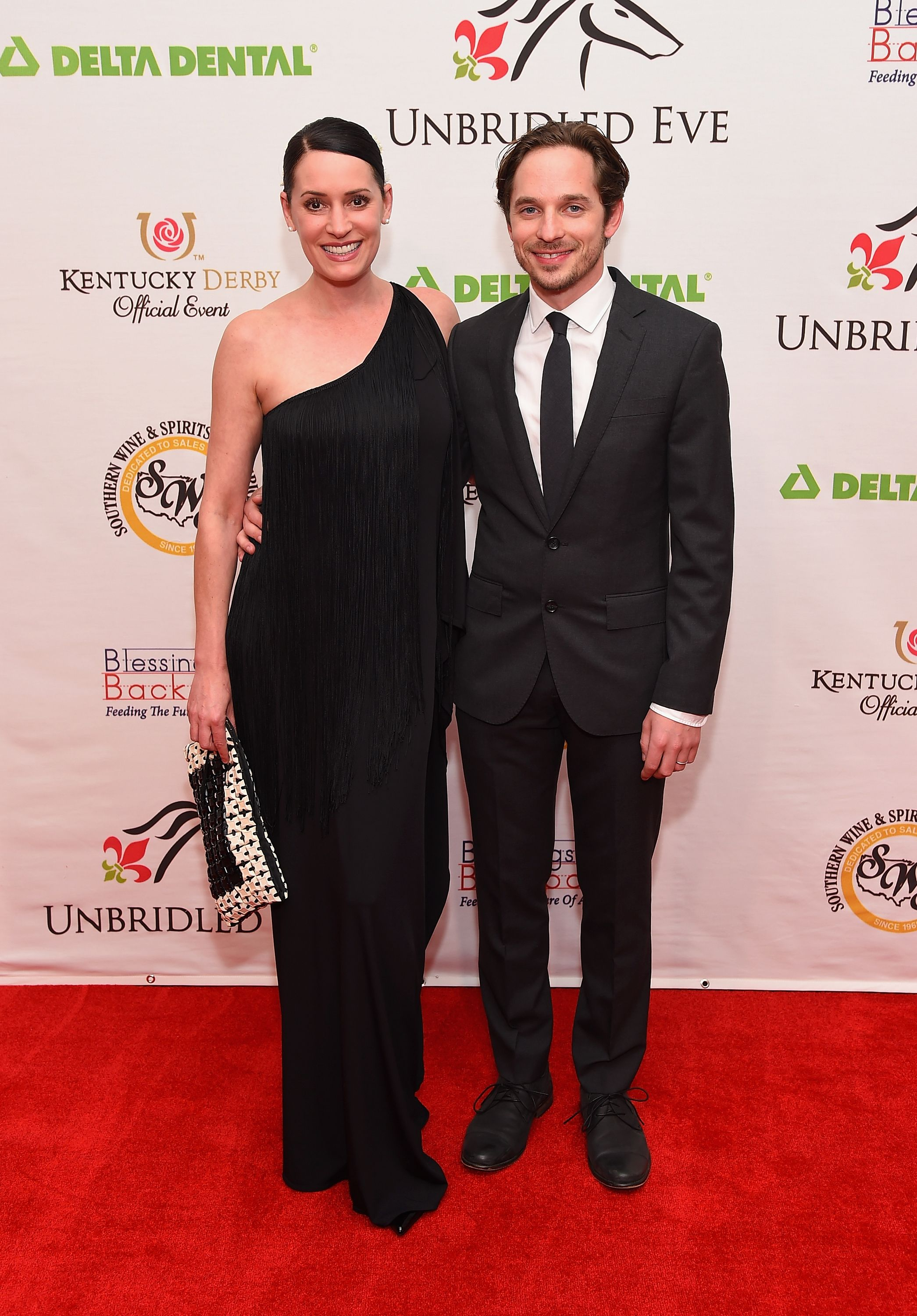 Paget Brewster and Steve Damstra were married by Matthew Gray Gubler / Getty Images
