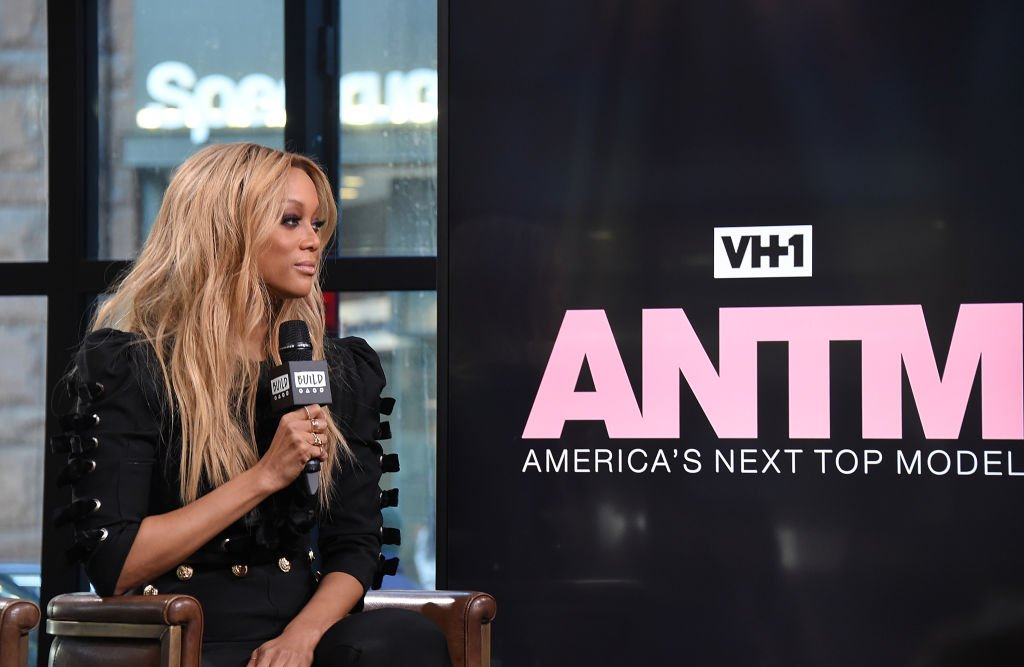 """Image Credit: Getty Images / Model and TV personality Tyra Banks visits Build Studio to discuss the show """"America's Next Top Model"""" at Build Studio on January 9, 2018 in New York City."""