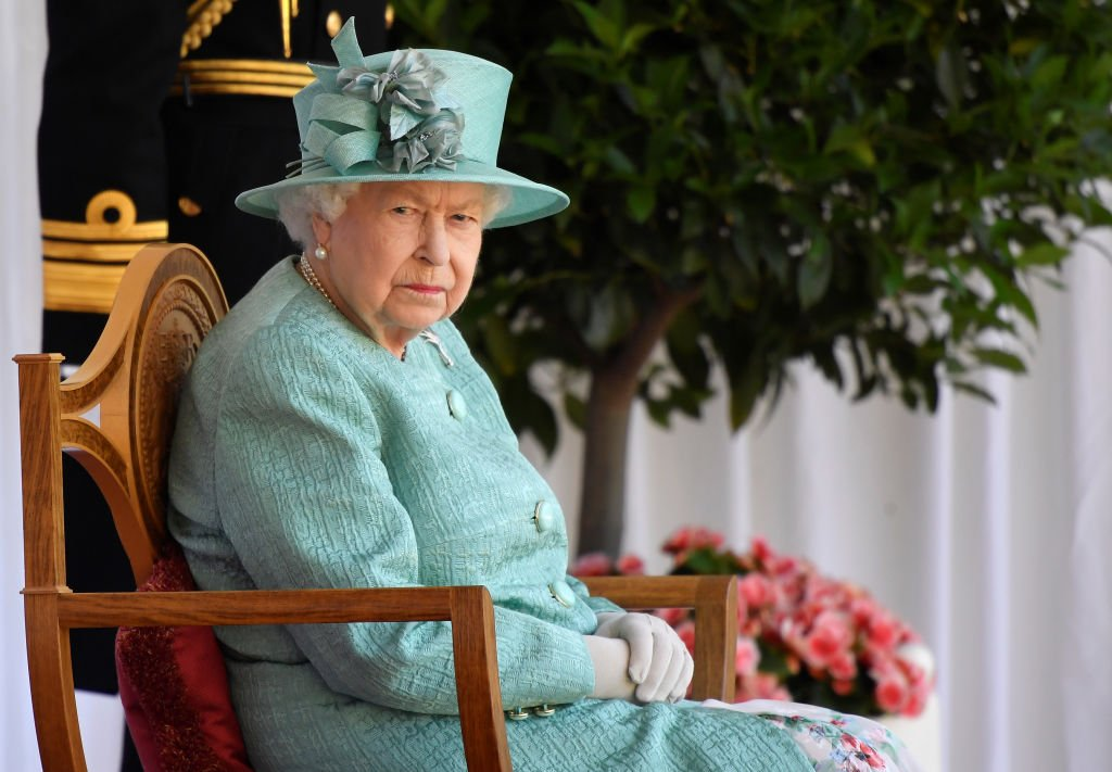 Image Credit: Getty Images / Queen Elizabeth II attends a ceremony to mark her official birthday at Windsor Castle on June 13, 2020 in Windsor, England.