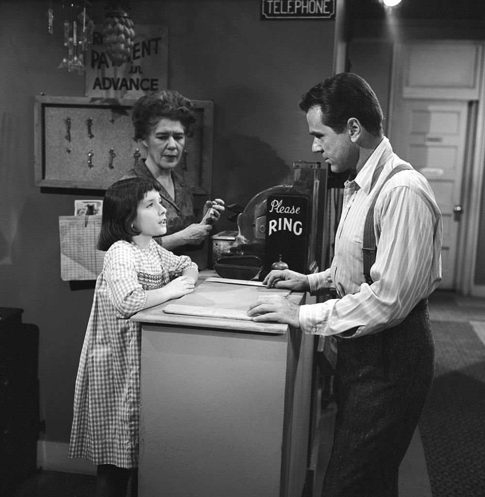 "Selby at the cash register from an episode of ""The Twilight Zone"" 