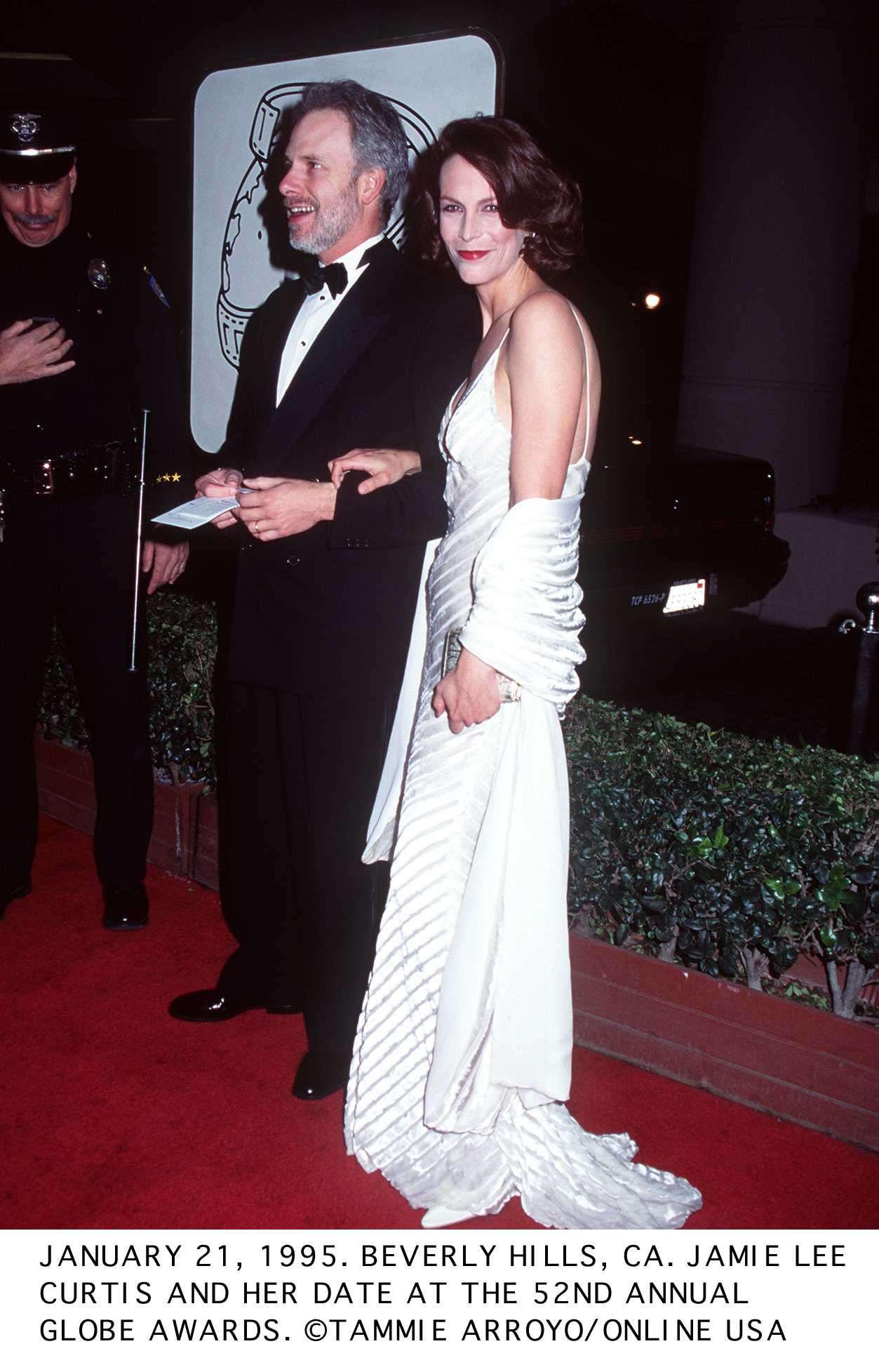 Jamie Lee Curtis and her date at the 52nd Annual Golden Globe Awards | Image Source: Getty Images