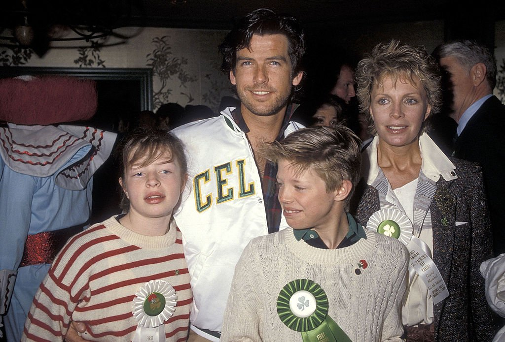 Image Source: Getty Images/Ron Galella Collection via Getty Images/Ron Galella, Ltd | The Brosnan-Harris family in the 80s