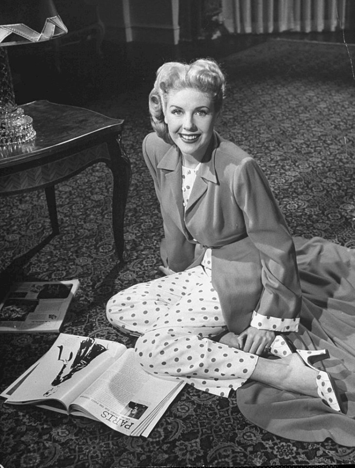 Image Credit: Getty Images/The LIFE Picture Collection via Getty Images/Martha Holmes | Marie McDonald modeling clothing