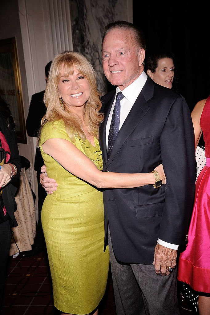 Image Credits: Getty Images / Gary Gershoff |  Honoree Kathie Lee Gifford (L) and husband Frank Gifford attend the City of Hope-East End Chapter 2010 Spirit of Life Award luncheon at Waldorf Astoria - Grand Ballroom on April 26, 2010 in New York City.