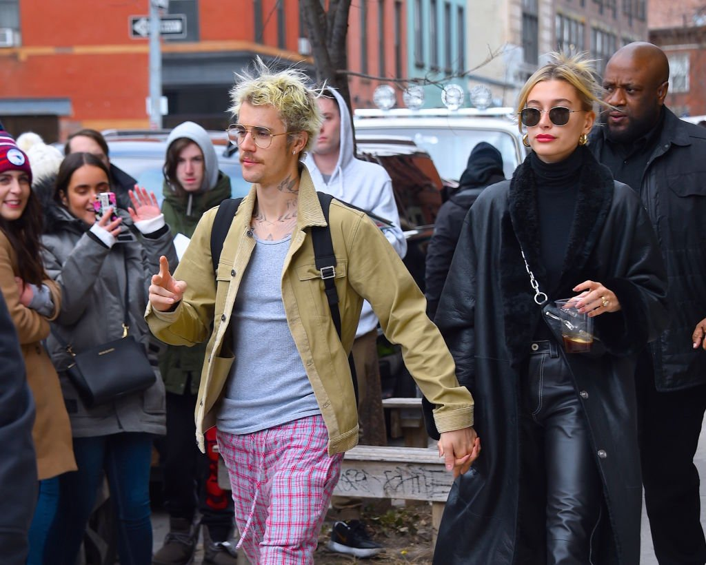 Image Credit: Getty Images / Justin Bieber and Hailey Bieber are seen out and about in Manhattan on February 8, 2020 in New York City.