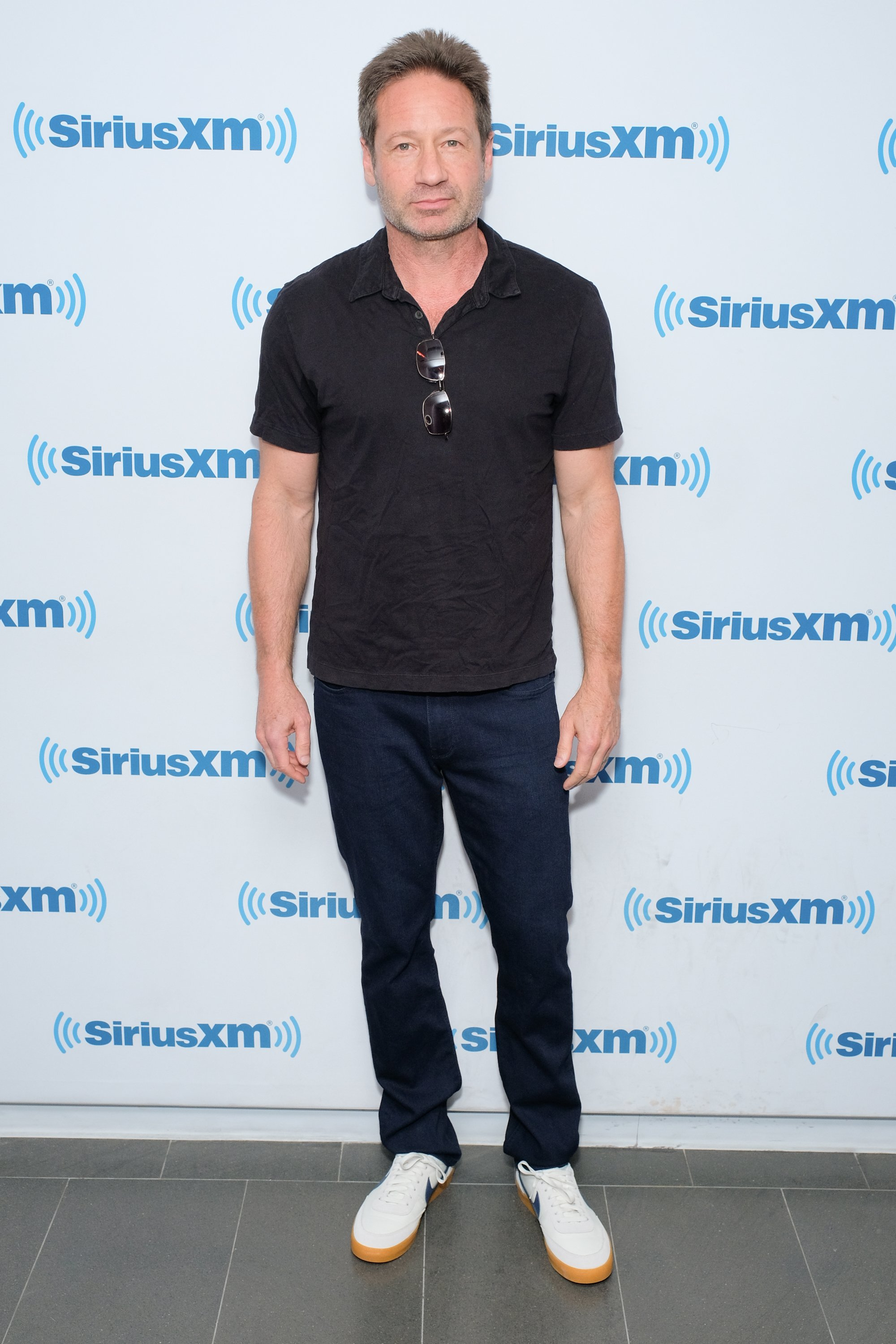 Image Credits: Getty Images / Matthew Eisman | Actor David Duchovny visits SiriusXM Studios on May 14, 2018 in New York City.