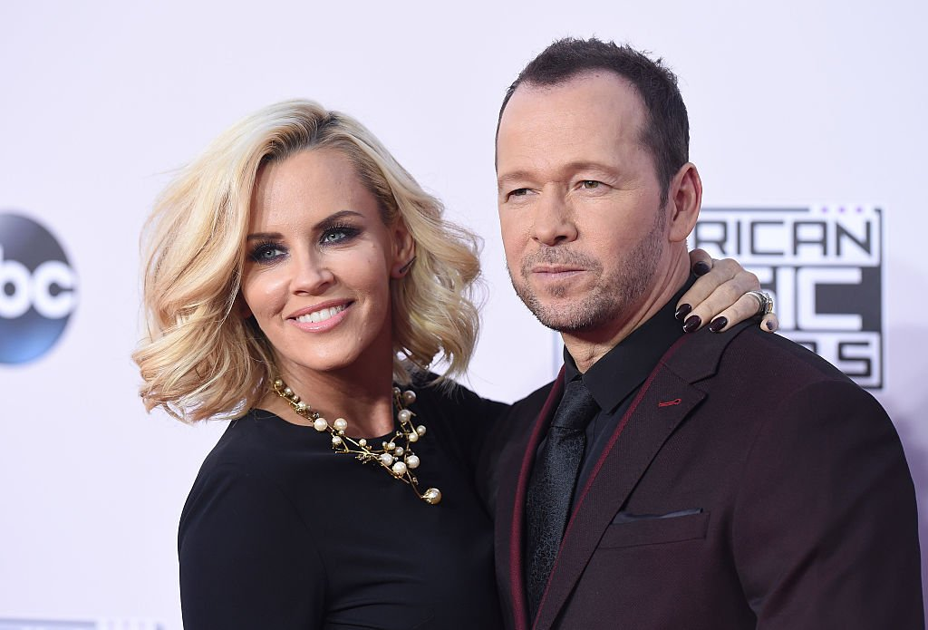 Image Credit: Getty Image/FilmMagic/Axelle/Bauer-Griffin | Jenny McCarthy and Donnie Wahlberg arrive at the 2014 American Music Awards