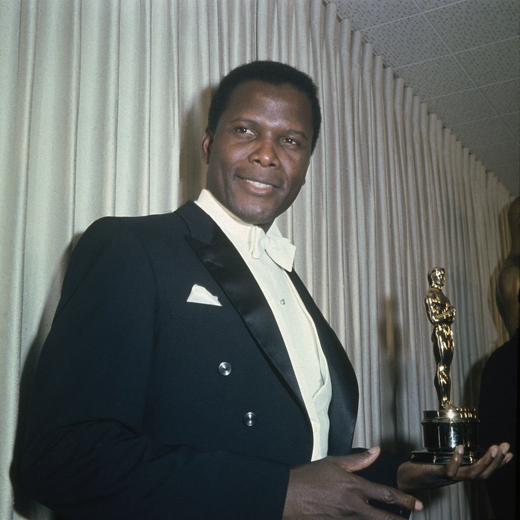 Image Credits: Getty Images / Archive Photos | Bahamian American actor Sidney Poitier holding his Academy Award for Best Actor in a Leading Role