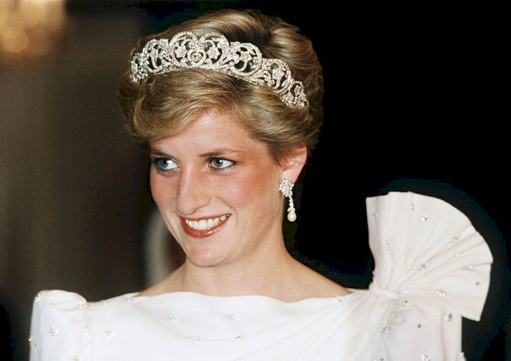 Image Credit: Getty Images / Princess Diana wearing the Spencer Tiara at an event.