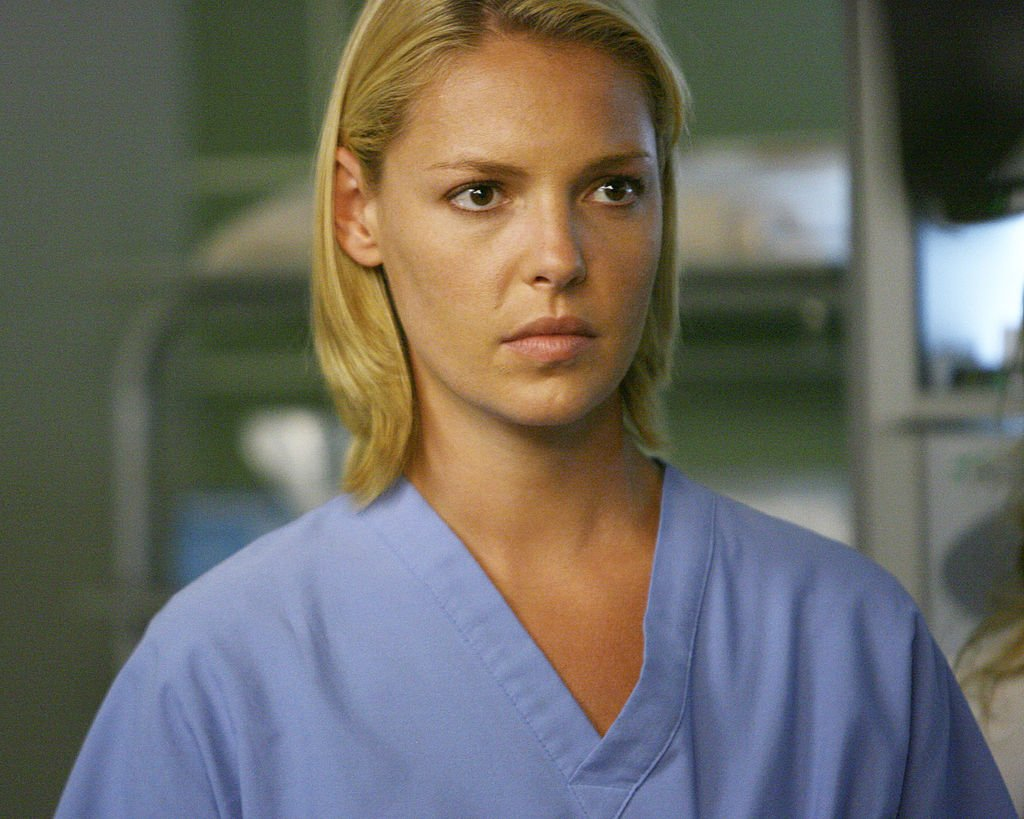 Image Credit: Getty Images / Actress Katherine Heigl on set for the series, Grey's Anatomy.