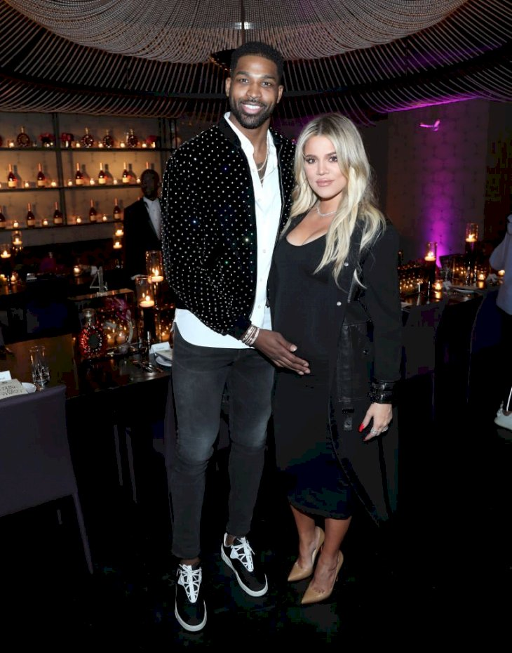 "Image Credit: Getty Images/Getty Images for Klutch Sports Group/Jerritt Clark | Tristan Thompson and Khloe Kardashian attend the Klutch Sports Group ""More Than A Game"" Dinner"