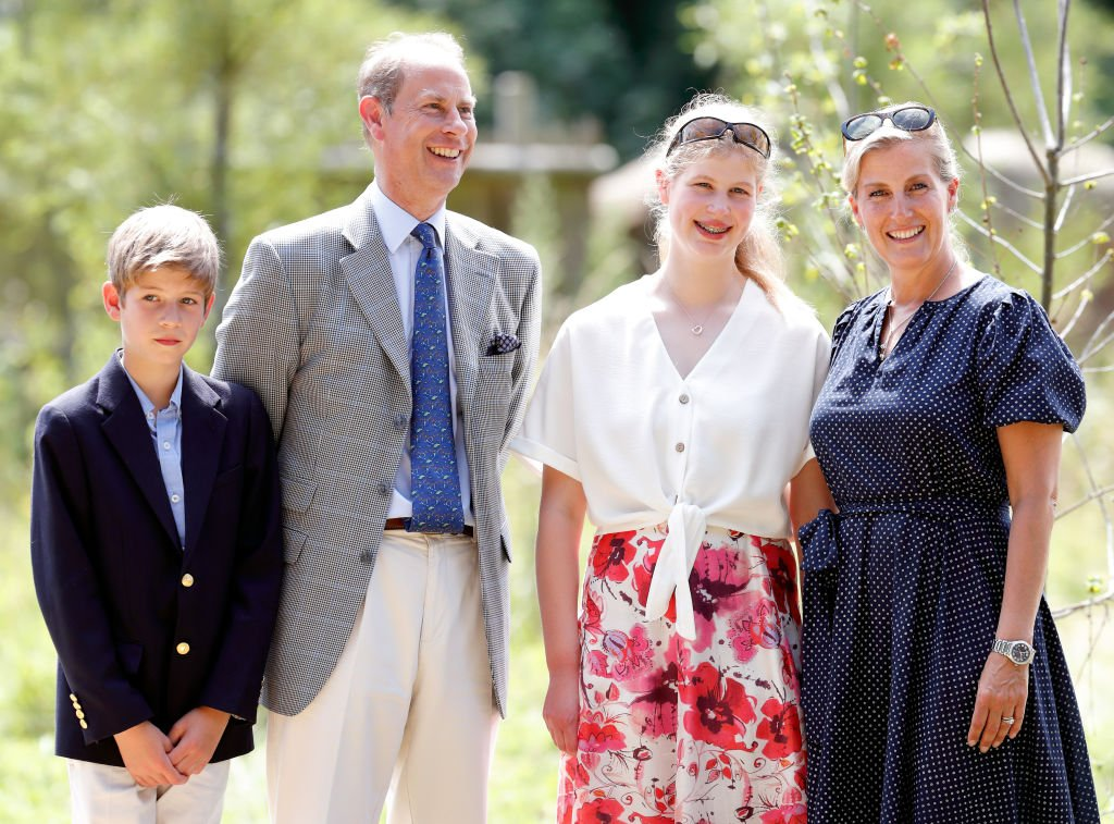Image Credit: Getty Images / James, Viscount Severn, Prince Edward, Earl of Wessex, Lady Louise Windsor and Sophie, Countess of Wessex visit The Wild Place Project at Bristol Zoo on July 23, 2019 in Bristol, England.
