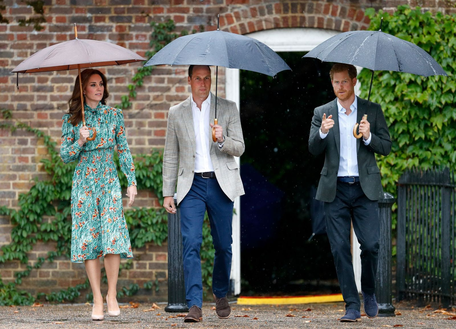 Dutchess Kate Middleton, Prince William and Prince Harry/Photo:Getty Images