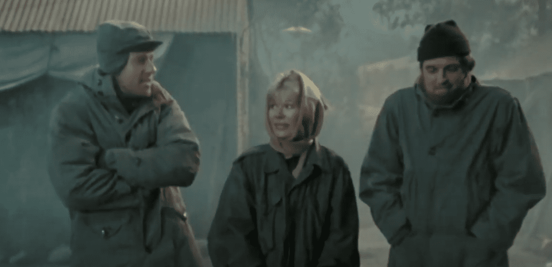 "Image Credits: YouTube /  MeTV | ""M*A*S*H"" characters on one of the winter episodes"