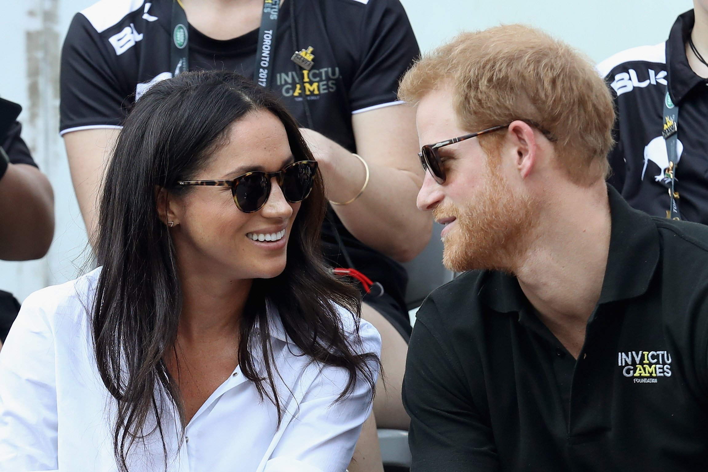 Image Source: Getty Images/Prince Harry and Meghan Markle during the Invictus Games