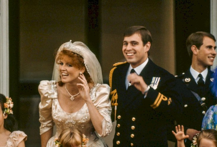 Image Credit: Getty Images / Sarah Ferguson on her wedding day with her husband, Prince Andrew.