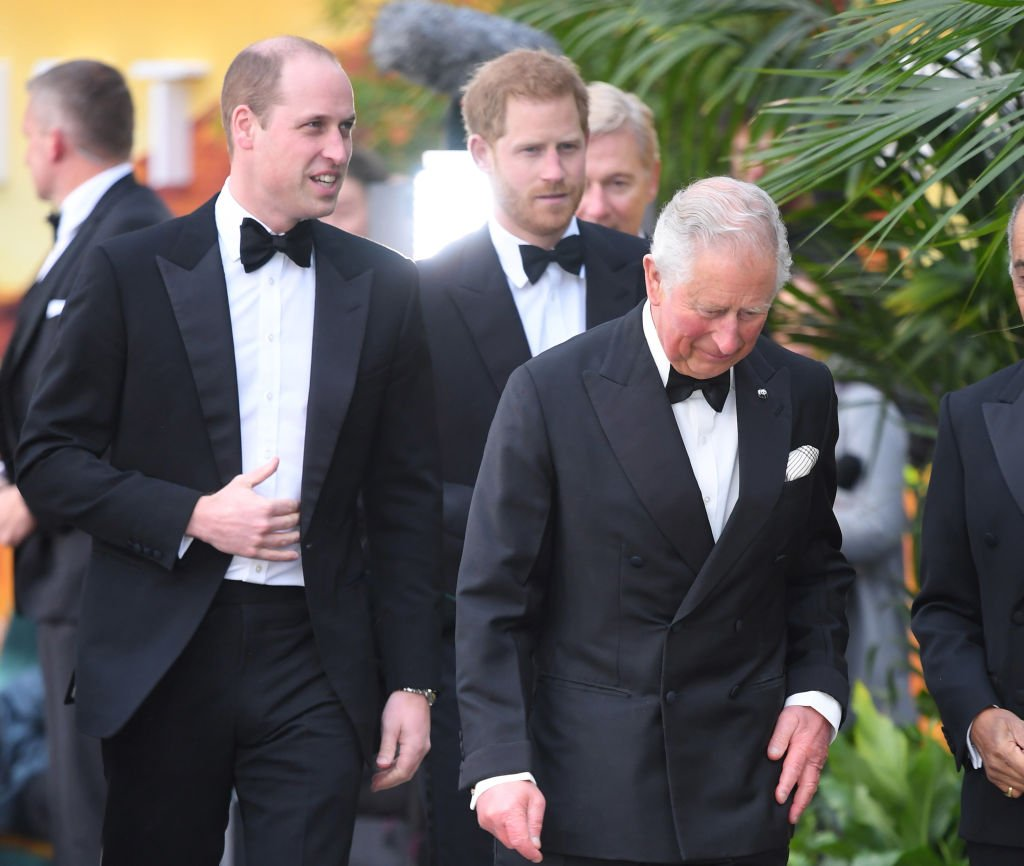 "Image Credit: Getty Images / Prince William, Duke of Cambridge, Prince Harry, Duke of Sussex and Prince Charles, Prince of Wales attend the ""Our Planet"" global premiere at Natural History Museum on April 04, 2019 in London."