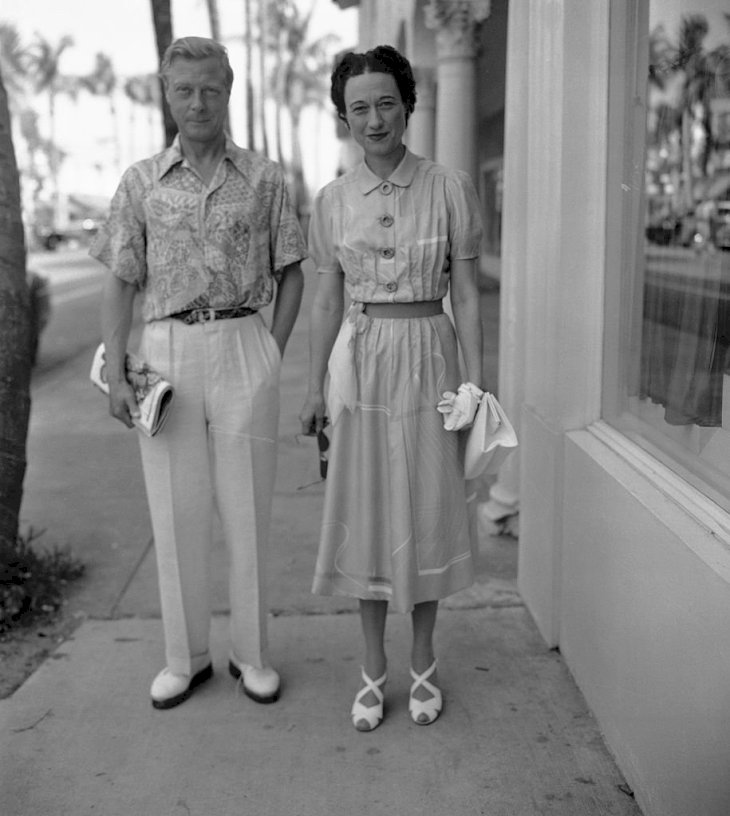 Image Credits: Getty Images / Gamma-Keystone | Windsors Vacation At Palm Beach. The Duke and Duchess of Windsor, who are spending their winter at Palm Beach, stroll along Worth Avenue, the city's exclusive shopping center.
