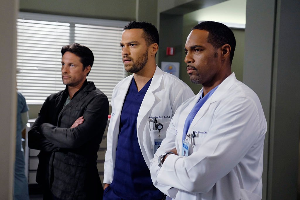 Image Credit: Getty Images/Walt Disney Television via Getty Images/Tony Rivetti | Martin Henderson, Jesse Williams and Jason George from season twelve