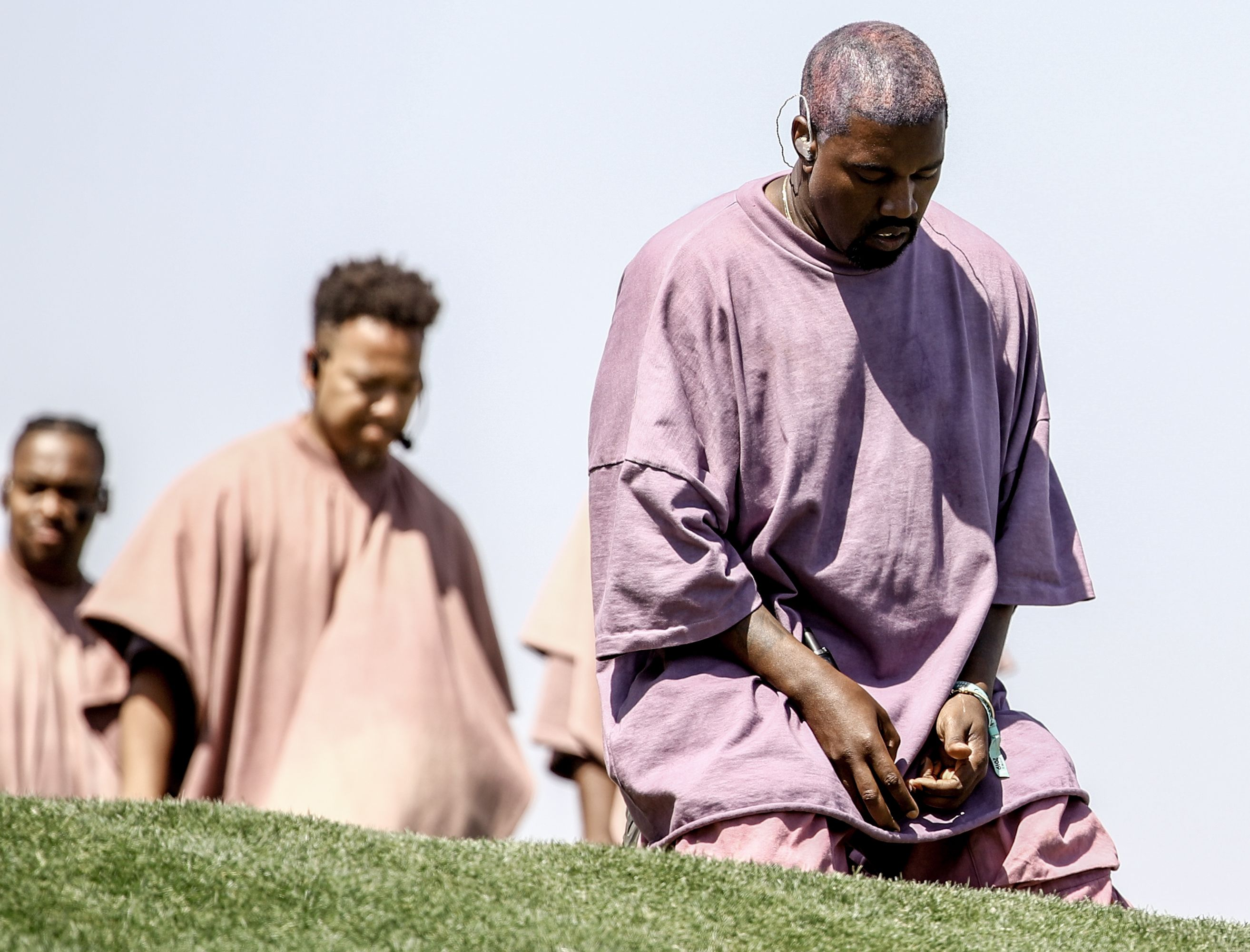 Kanye West performs Sunday Service / Getty Images