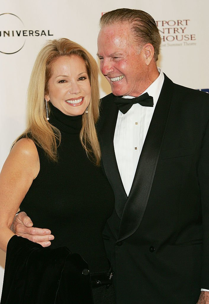 Image Credits: Getty Images / Evan Agostini | Frank Gifford and Kathie Lee Gifford attend the Westport Country Playhouse benefit dinner at The Hyatt Regency on October 14, 2004 in Greenwich, Connecticut.