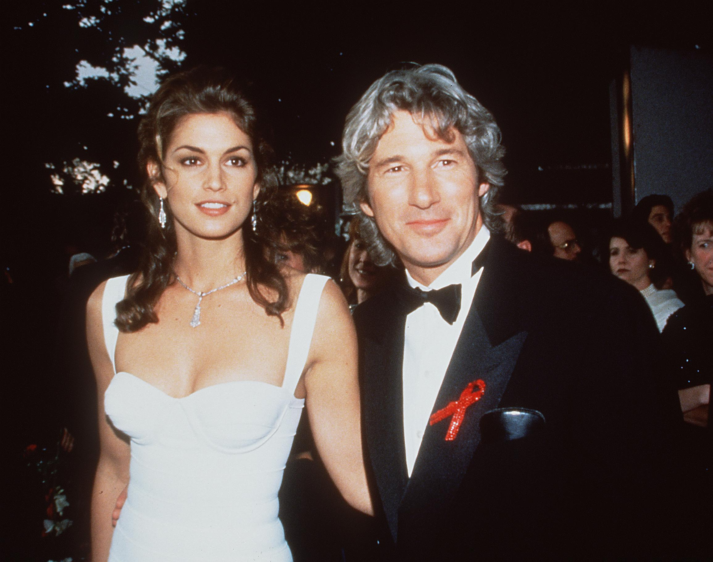 Cindy Crawford with Richard Gere Image Source: Getty Images.