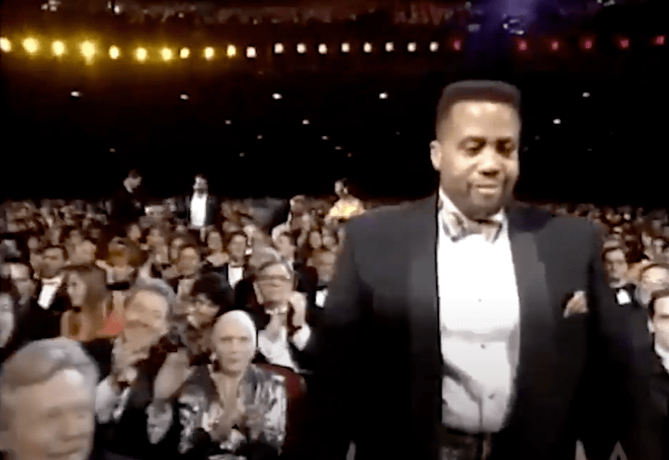 Image Credits: YouTube /  ViolentHuesProd | Russel Williams II stepping onstage to accept his Oscar
