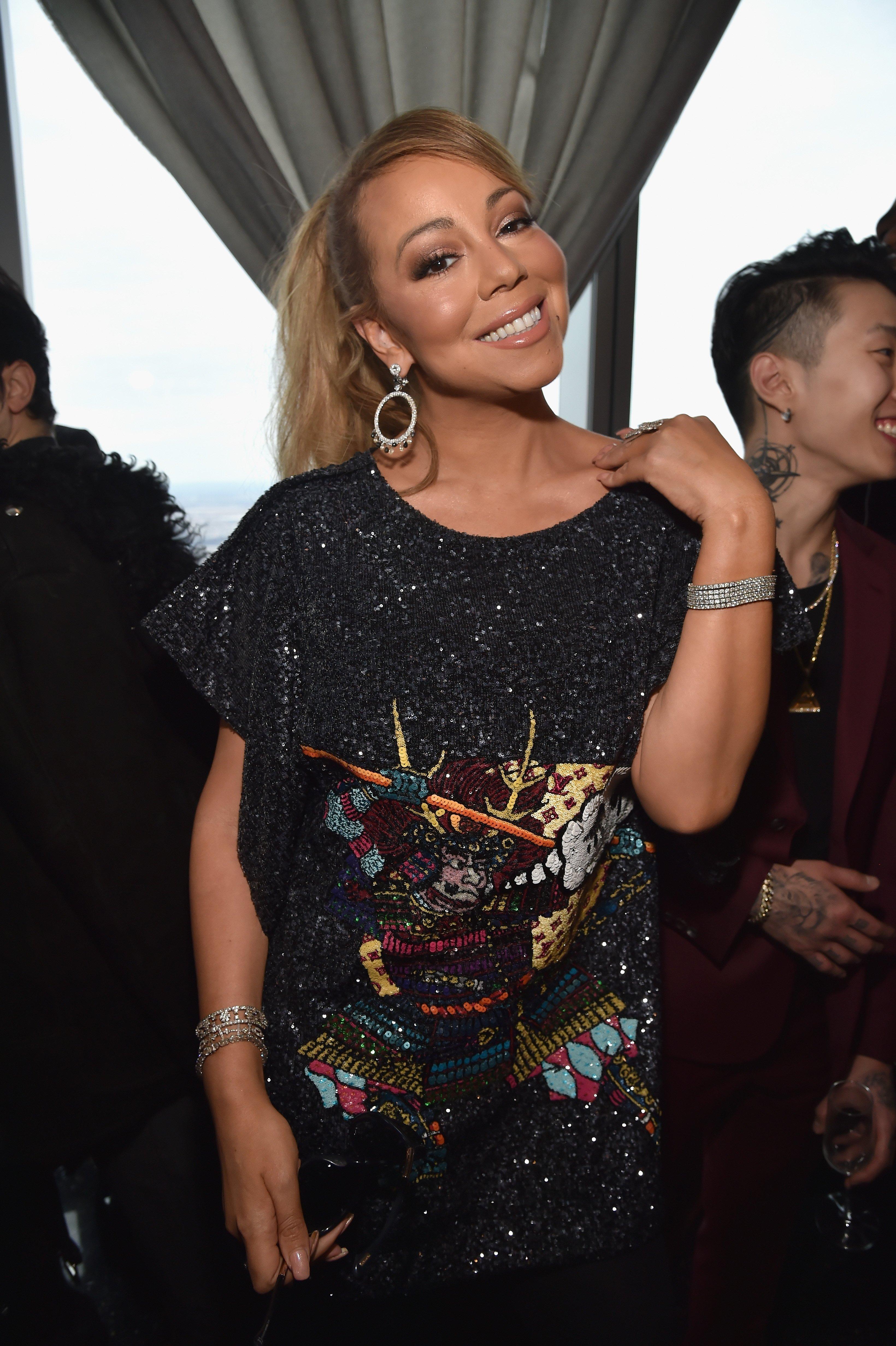 Image Credits: Getty Images / Kevin Mazur | Mariah Carey attends Roc Nation THE BRUNCH at One World Observatory on January 27, 2018 in New York City.