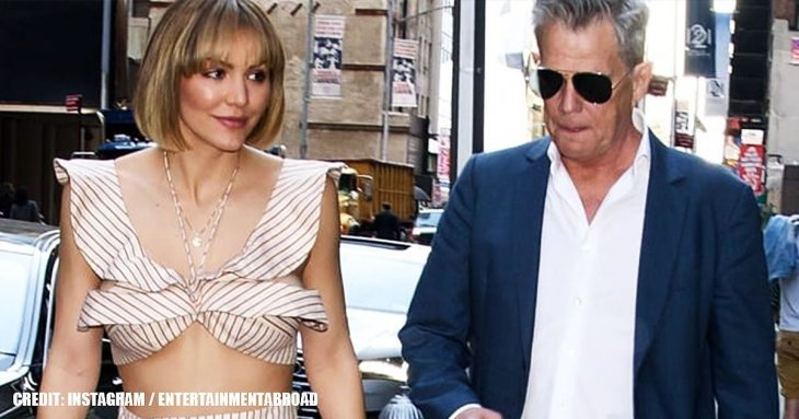 David Foster arrived at awards show in NYC with girlfriend Katharine McPhee in skimpy outfit