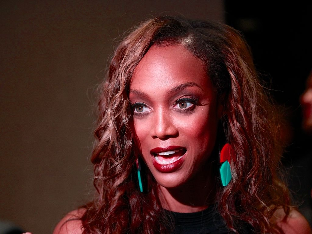 """Image Credit: Getty Images / Host Tyra Banks attends the """"America's Next Top Model: College Edition, Cycle 19"""" Premiere at the Tribeca Grand Hotel on August 22, 2012."""
