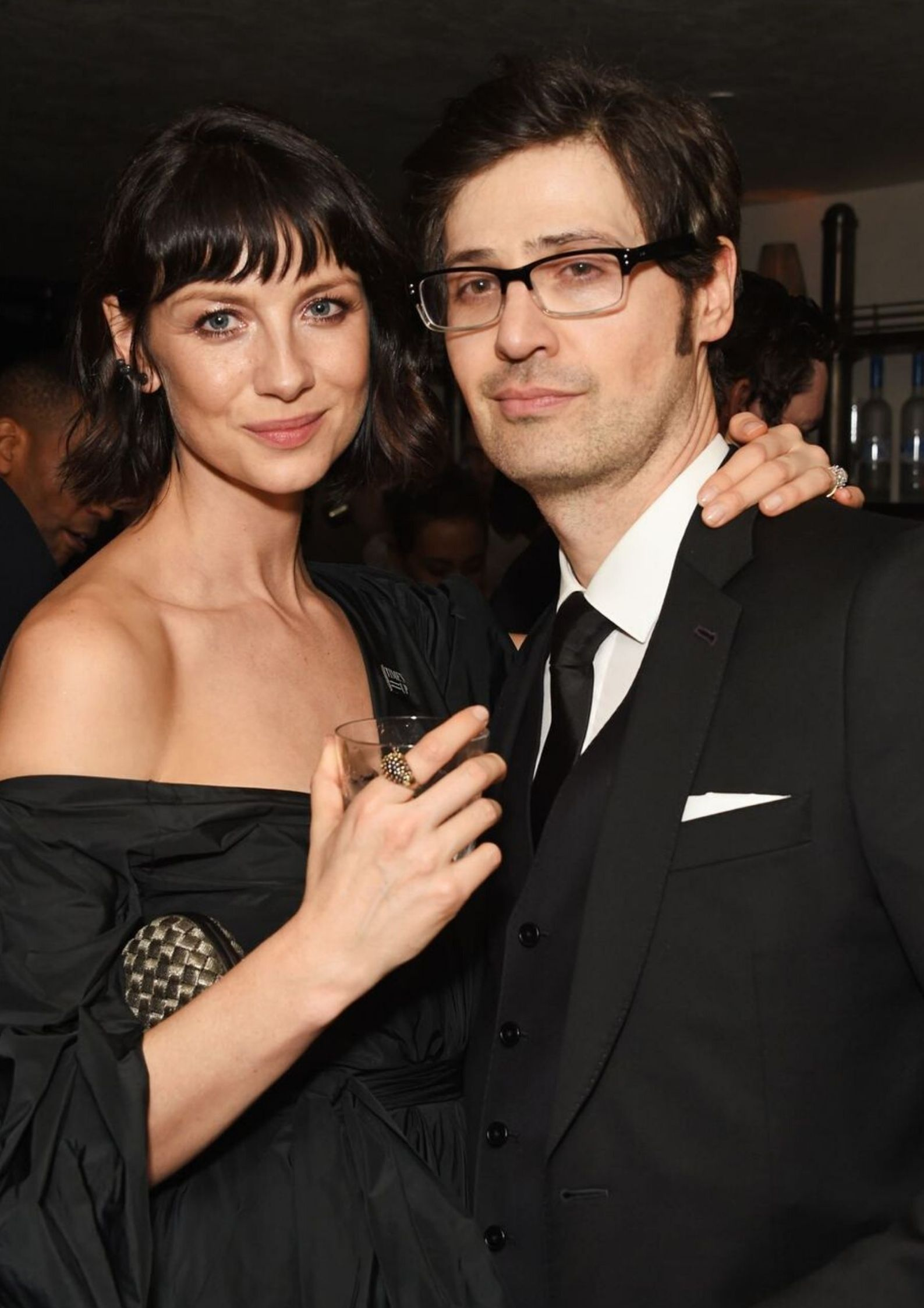 Caitriona Balfe and Tony McGill attending the 2018 Golden Globes/Photo:Getty Images