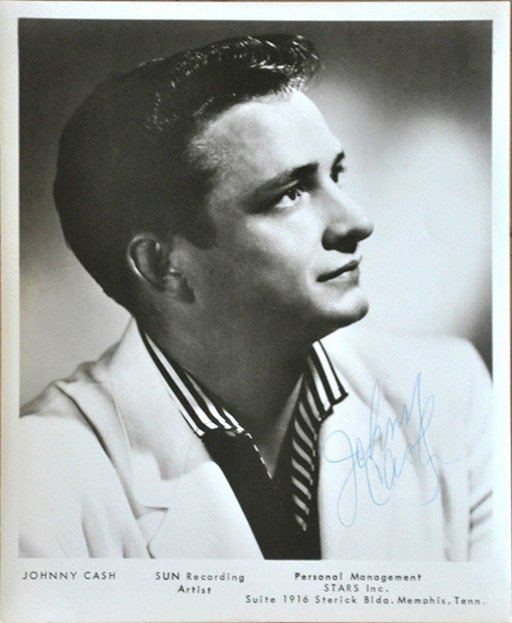 Wikimedia / Johnny Cash Promotional Photo for Sun Records, taken in 1955