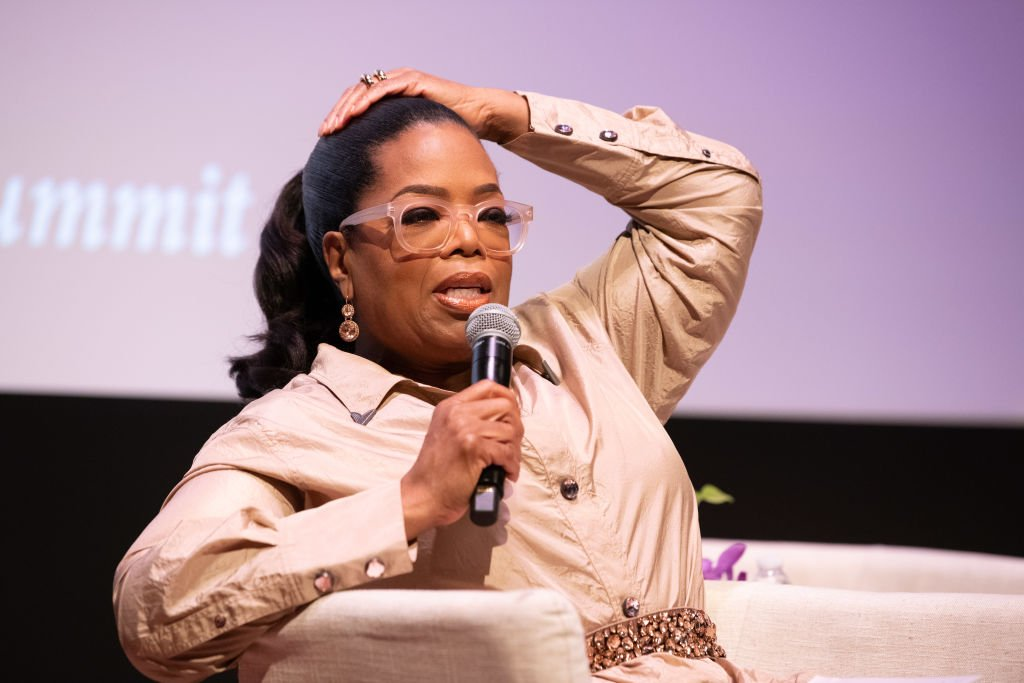 Image Credit: Getty Images / Media proprietor, talk show host and actress Oprah Winfrey speaks onstage at the Women's E3 Summit at National Museum Of African American History & Culture on June 7, 2018.