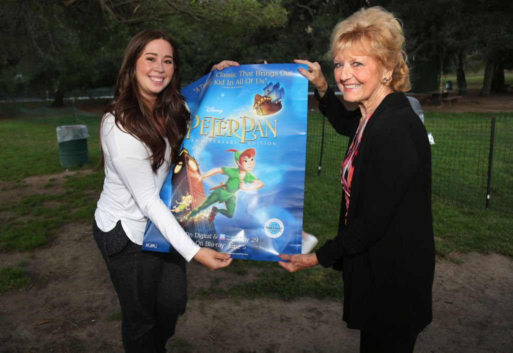 "Voice Actress of ""Wendy"" Kathryn Beaumont and fan attend the Street Food Cinema Presents 65th Anniversary Screening Of Disney's ""Peter Pan"" at Griffith Park  